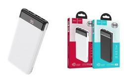 Аккумулятор внешний универсальный Hoco J59 10000 mAh Famous mobile power bank (2USB:5V-2.0A Max) Белый