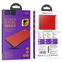 Аккумулятор внешний универсальный Hoco J66 10000 mAh Fountain mobile power bank (2USB:5V-2.0A Max) Красный