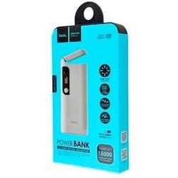Аккумулятор внешний универсальный Hoco B27-15000 mAh Pusi Power Bank (2USB: 5V-2.0A) White Белый