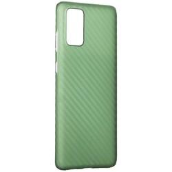 Чехол-накладка карбоновая K-Doo Air Carbon 0.45мм для Samsung S20 Plus зеленая