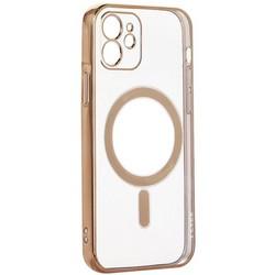 """Чехол-накладка силиконовая J-case Magsafe Series для iPhone 12 (6.1"""") Золотой"""