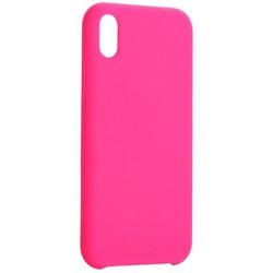"Накладка силиконовая MItrifON для iPhone XR (6.1"") без логотипа Bright pink Ярко-розовый №47"