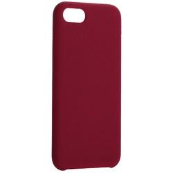 """Накладка силиконовая MItrifON для iPhone SE (2020г.)/8/ 7 (4.7"""") без логотипа Maroon Бордовый №52"""