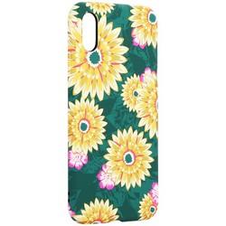 """Чехол-накладка силикон Luxo для iPhone XS/ X (5.8"""") 0.8мм с флуоресцентным рисунком Цветы вид 1"""
