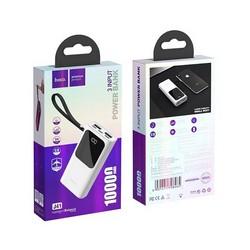 Аккумулятор внешний универсальный Hoco J41-10000 mAh Treasure Power Bank с LED индикатором (2USB: 5V-2.0A) Белый