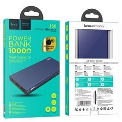 Аккумулятор внешний универсальный Hoco J66 10000 mAh Fountain mobile power bank (2USB:5V-2.0A Max) Синий