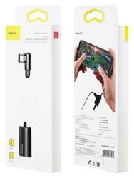 Аудио-переходник Baseus L45 Type-C Male to Type-C and 3.5 mm Female Adapter (с разъемом для зарядки) Черный