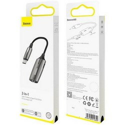 Аудио-переходник Baseus L60 Type-C Male to 3.5 mm Female Adapter Графитовый