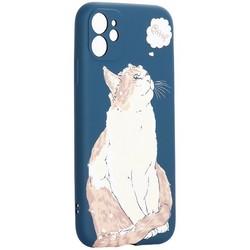 "Чехол-накладка силикон Luxo для iPhone 11 (6.1"") 0.8мм с флуоресцентным рисунком KAWS J66"