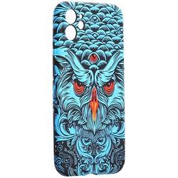 "Чехол-накладка силикон Luxo для iPhone 11 (6.1"") 0.8мм с флуоресцентным рисунком KAWS J69"