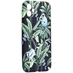"Чехол-накладка силикон Luxo для iPhone 11 (6.1"") 0.8мм с флуоресцентным рисунком KAWS J75"