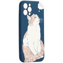 "Чехол-накладка силикон Luxo для iPhone 12 Pro (6.1"") 0.8мм с флуоресцентным рисунком KAWS J66"