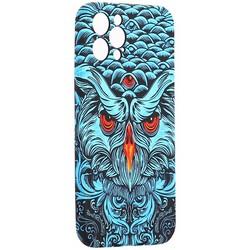 "Чехол-накладка силикон Luxo для iPhone 12 Pro (6.1"") 0.8мм с флуоресцентным рисунком KAWS J69"