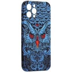 "Чехол-накладка силикон Luxo для iPhone 12 Pro Max (6.7"") 0.8мм с флуоресцентным рисунком KAWS J69"