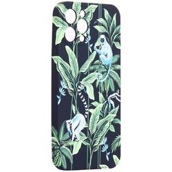 "Чехол-накладка силикон Luxo для iPhone 12 Pro Max (6.7"") 0.8мм с флуоресцентным рисунком KAWS J75"
