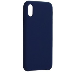 """Накладка силиконовая MItrifON для iPhone XS/ X (5.8"""") без логотипа Ультрамарин №63"""