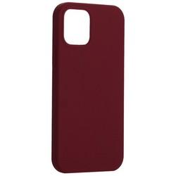 "Накладка силиконовая MItrifON для iPhone 12/ 12 Pro (6.1"") без логотипа Бургунди №67"