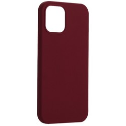 """Накладка силиконовая MItrifON для iPhone 12 Pro Max (6.7"""") без логотипа Бургунди №67"""