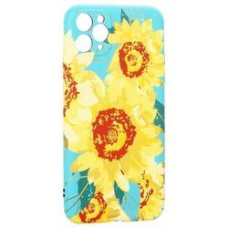 """Чехол-накладка силикон Luxo для iPhone 11 Pro Max (6.5"""") 0.8мм с флуоресцентным рисунком Цветы Вид1"""