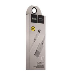 USB дата-кабель Hoco X5 Bamboo Lightning (1.0 м) Белый