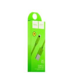 USB дата-кабель Hoco X5 Bamboo Lightning (1.0 м) Зеленый