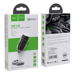 Разделитель автомобильный Hoco Z32 Speed Up single port QC3.0 car charger (USB: 3.6V-6.5V & 3A) Черный