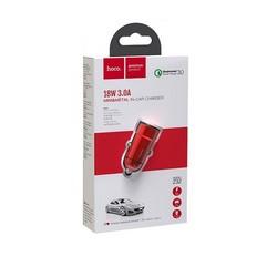 Разделитель автомобильный Hoco Z32 Speed Up single port QC3.0 car charger (USB: 3.6V-6.5V & 3A) Красный