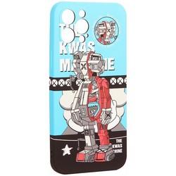 "Чехол-накладка силикон Luxo для iPhone 12 Pro (6.1"") 0.8мм с флуоресцентным рисунком KAWS J85"