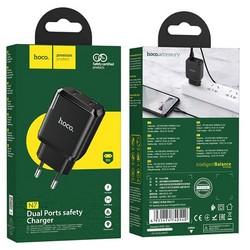 Адаптер питания Hoco N7 Speedy dual port charger Apple&Android (2USB: 5V max 2.1A) Черный