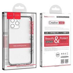 """Чехол силиконовый Hoco Light Series для iPhone 13 Pro (6.1"""") Прозрачный"""
