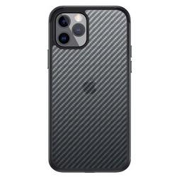 """Чехол-накладка карбоновая SULADA Luxury Series Enjoyment Carbon для Iphone 13 Pro (6.1"""") Черная с синей окантовкой"""