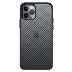 """Чехол-накладка карбоновая SULADA Luxury Series Enjoyment Carbon для Iphone 13 (6.1"""") Черная с синей окантовкой"""
