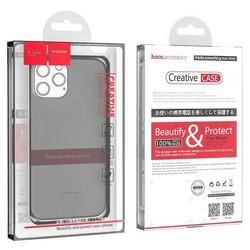 """Чехол силиконовый Hoco Light Series для iPhone 13 Pro (6.1"""") Дымчатый"""