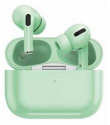 Bluetooth-гарнитура Prime Line TWS-Air Urban BT 5.0 (D-4040) с зарядным устройством 220 mAh Мятный