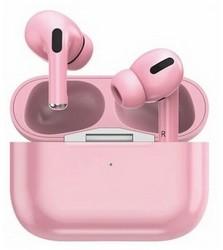 Bluetooth-гарнитура Prime Line TWS-Air Urban BT 5.0 (D-4041) с зарядным устройством 220 mAh Розовый