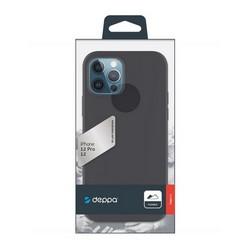 """Чехол-накладка силикон Deppa Gel Color Case D-87750 для iPhone 12/ 12 Pro (6.1"""") 1.0мм Черный"""