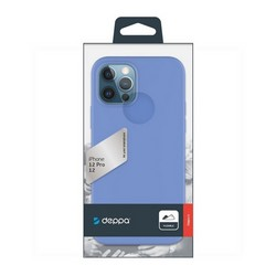 "Чехол-накладка силикон Deppa Gel Color Case D-87752 для iPhone 12/ 12 Pro (6.1"") 1.0мм Синий"