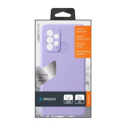 Чехол-накладка силикон Deppa Liquid Silicone Case D-870118 для Samsung GALAXY A72 (2021) Лавандовый