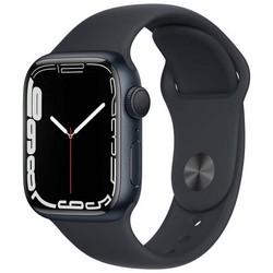 Apple Watch Series 7 GPS 41mm Midnight Aluminum Case with Midnight Sport Band (тёмная ночь) MKMX3RU