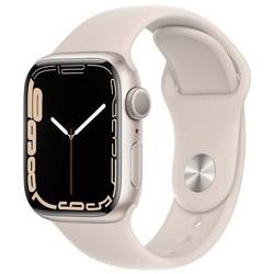 Apple Watch Series 7 GPS 41mm Starlight Aluminum Case with Starlight Sport Band (сияющая звезда)