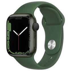 Apple Watch Series 7 GPS 41mm Green Aluminum Case with Clover Sport Band (зеленый) MKN03RU