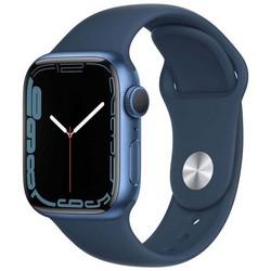 Apple Watch Series 7 GPS 41mm Blue Aluminum Case with Abyss Blue Sport Band (синий) MKN13RU