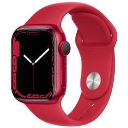 Apple Watch Series 7 GPS 41mm (PRODUCT)RED Aluminum Case with (PRODUCT)RED Sport Band