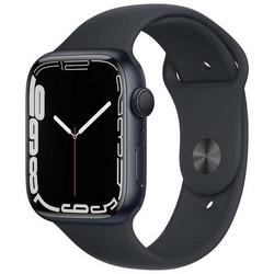 Apple Watch Series 7 GPS 45mm Midnight Aluminum Case with Midnight Sport Band (тёмная ночь) MKN53RU