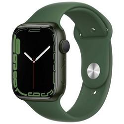 Apple Watch Series 7 GPS 45mm Green Aluminum Case with Clover Sport Band (зеленый) MKN73RU