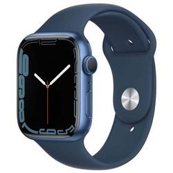 Apple Watch Series 7 GPS 45mm Blue Aluminum Case with Abyss Blue Sport Band (синий) MKN83RU