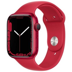 Apple Watch Series 7 GPS 45mm (PRODUCT)RED Aluminum Case with (PRODUCT)RED Sport Band MKN93RU