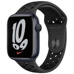 Apple Watch Nike Series 7 GPS 45mm Midnight Aluminium Case with Anthracite/Black Nike Sport Band (антрацитовый/чёрный) MKNC3RU