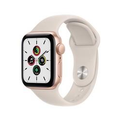 Apple Watch SE GPS 40mm Gold Aluminum Case with Starlight Sport Band (сияющая звезда) MKQ03RU