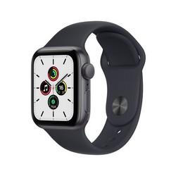 Apple Watch SE GPS 40mm Space Gray Aluminum Case with Midnight Sport Band (тёмная ночь) MKQ13RU